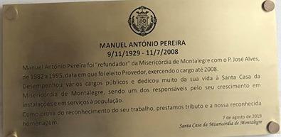 MANUEL ANTÓNIO PEREIRA – Homenageado